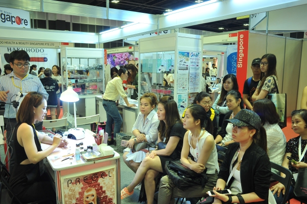 Product demonstrations and workshops were offerred by various exhibitors at BeautyAsia